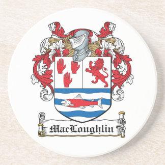 Escudo de la familia de MacLoughlin Posavasos Para Bebidas
