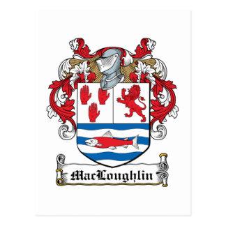 Escudo de la familia de MacLoughlin Postal