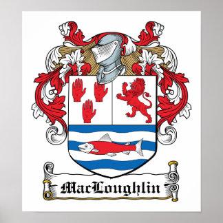 Escudo de la familia de MacLoughlin Posters