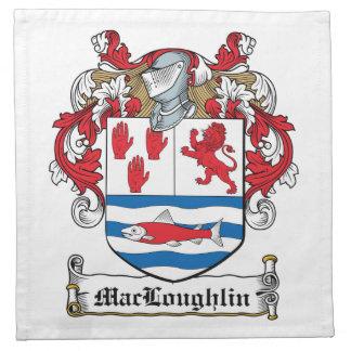 Escudo de la familia de MacLoughlin Servilleta