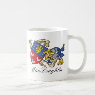 Escudo de la familia de MacLoughlin Taza De Café