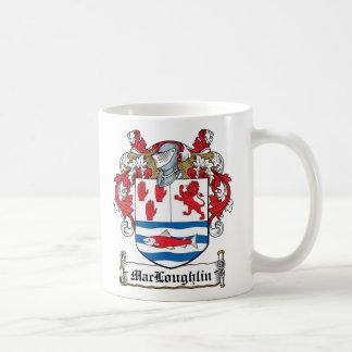 Escudo de la familia de MacLoughlin Tazas De Café