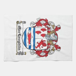 Escudo de la familia de MacLoughlin Toalla De Mano
