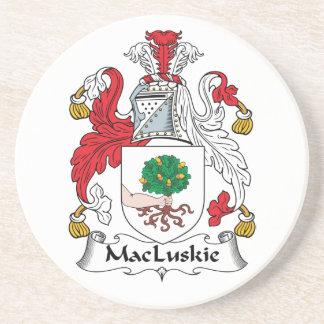 Escudo de la familia de MacLuskie Posavasos Personalizados