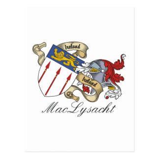 Escudo de la familia de MacLysacht Postal