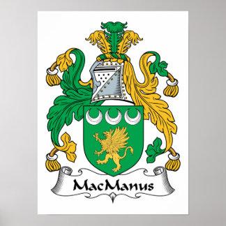 Escudo de la familia de MacManus Poster