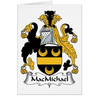 Escudo de la familia de MacMichael Tarjeta De Felicitación