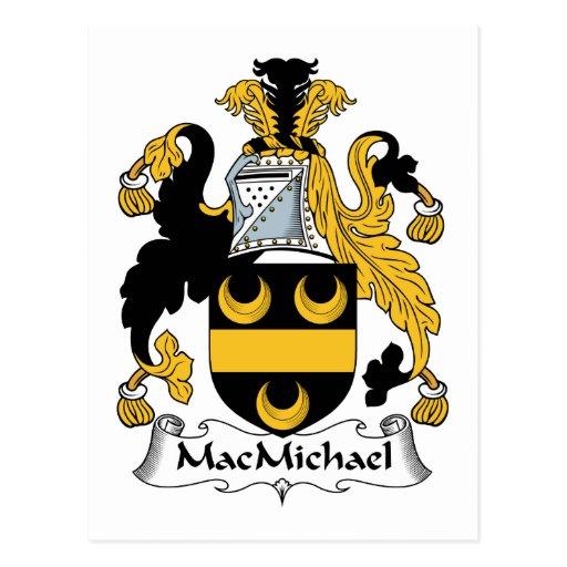 Escudo de la familia de MacMichael Tarjeta Postal