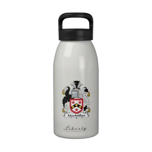 Escudo de la familia de MacMillan Botella De Agua Reutilizable