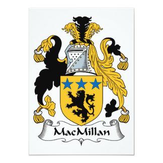 """Escudo de la familia de MacMillan Invitación 5"""" X 7"""""""