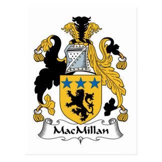 Escudo de la familia de MacMillan Postales