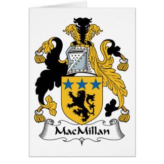 Escudo de la familia de MacMillan Tarjeta De Felicitación