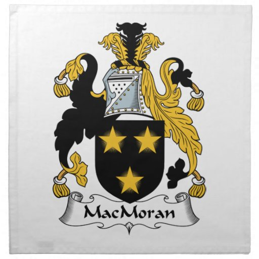 Escudo de la familia de MacMoran Servilletas