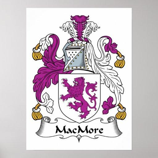 Escudo de la familia de MacMore Impresiones