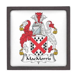Escudo de la familia de MacMorris Caja De Recuerdo De Calidad