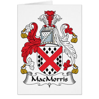 Escudo de la familia de MacMorris Felicitación