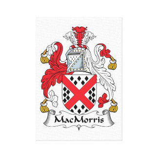 Escudo de la familia de MacMorris Impresion De Lienzo