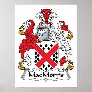 Escudo de la familia de MacMorris Poster