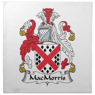 Escudo de la familia de MacMorris Servilleta