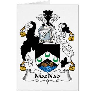 Escudo de la familia de MacNab Tarjeta De Felicitación