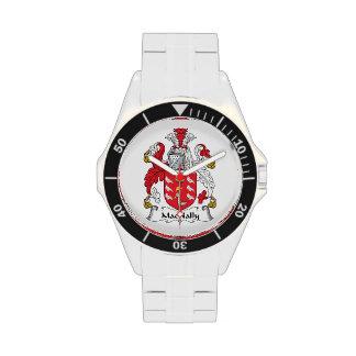 Escudo de la familia de MacNally Relojes De Pulsera