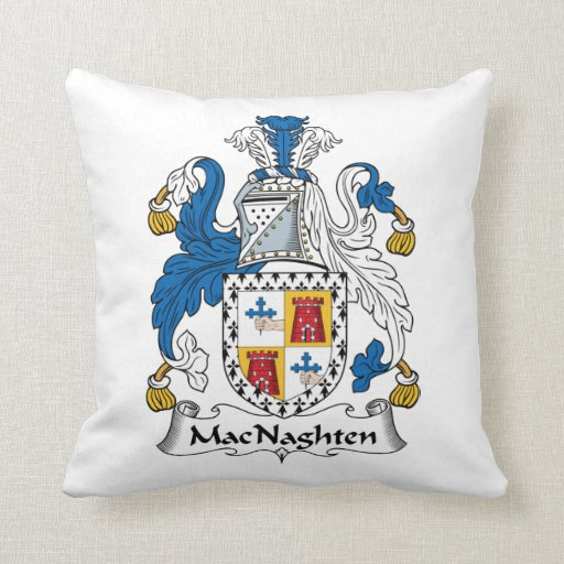 Escudo de la familia de MacNaughten Almohadas
