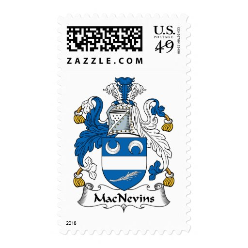 Escudo de la familia de MacNevins Sellos Postales