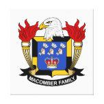 Escudo de la familia de Macomber Lienzo Envuelto Para Galerías