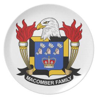 Escudo de la familia de Macomber Platos De Comidas