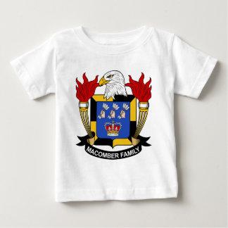 Escudo de la familia de Macomber Playera De Bebé