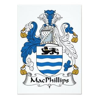 """Escudo de la familia de MacPhillips Invitación 5"""" X 7"""""""