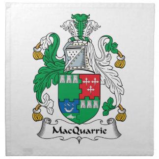Escudo de la familia de MacQuarrie Servilletas Imprimidas