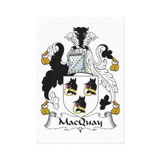 Escudo de la familia de MacQuay Impresiones En Lona Estiradas