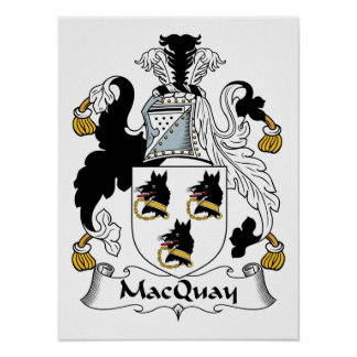 Escudo de la familia de MacQuay Posters