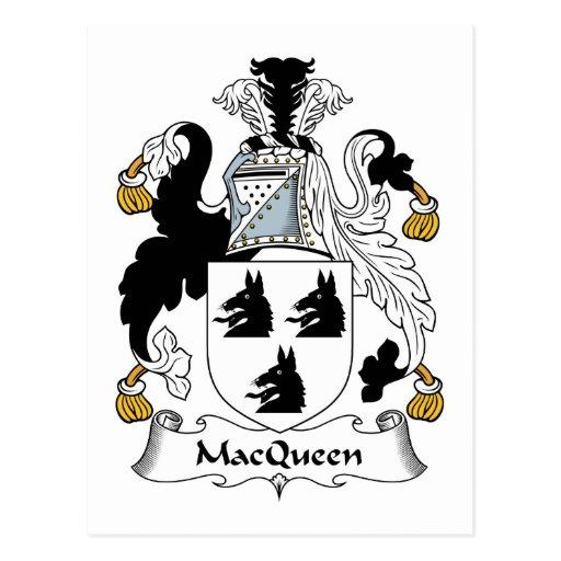 Escudo de la familia de MacQueen Postales