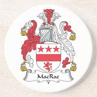 Escudo de la familia de MacRae Posavasos Para Bebidas