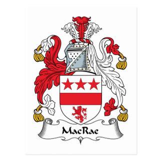 Escudo de la familia de MacRae Tarjeta Postal