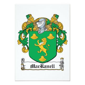 Escudo de la familia de MacRanell Invitación 12,7 X 17,8 Cm