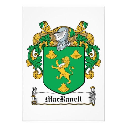 Escudo de la familia de MacRanell Invitación