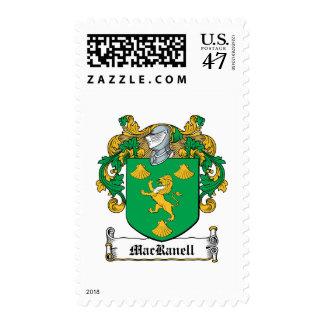 Escudo de la familia de MacRanell Timbre Postal