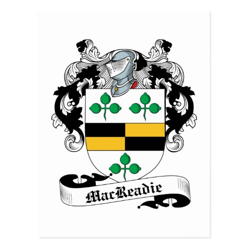 Escudo de la familia de MacReadie Tarjeta Postal