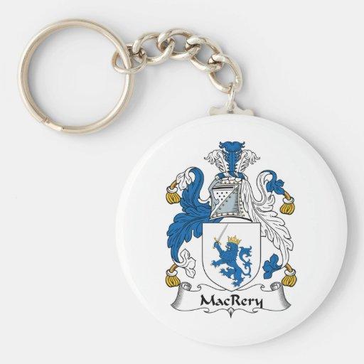 Escudo de la familia de MacRery Llavero Redondo Tipo Pin
