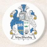 Escudo de la familia de MacSheehy Posavasos Cerveza