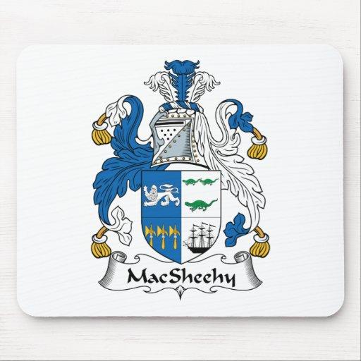Escudo de la familia de MacSheehy Tapete De Ratones