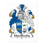 Escudo de la familia de MacSheehy Tarjeta Postal