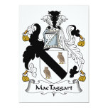 Escudo de la familia de MacTaggart Invitación 12,7 X 17,8 Cm