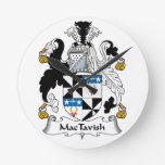 Escudo de la familia de MacTavish Relojes De Pared