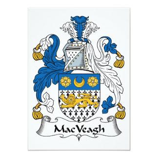"""Escudo de la familia de MacVeagh Invitación 5"""" X 7"""""""