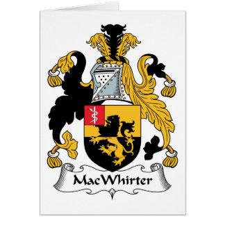Escudo de la familia de MacWhirter Felicitación