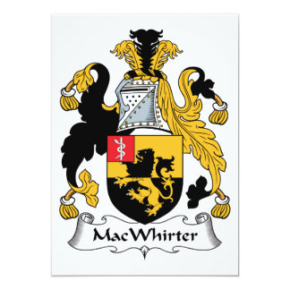 Escudo de la familia de MacWhirter Comunicado Personal